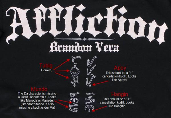brandon vera tattoo affliction shirt