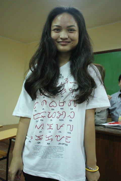 """Has anyone seen this """"Alibata"""" shirt at Kultura Filipino? (1/2)"""