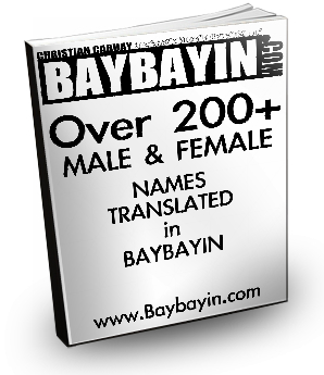 baybayin aka alibata name translations