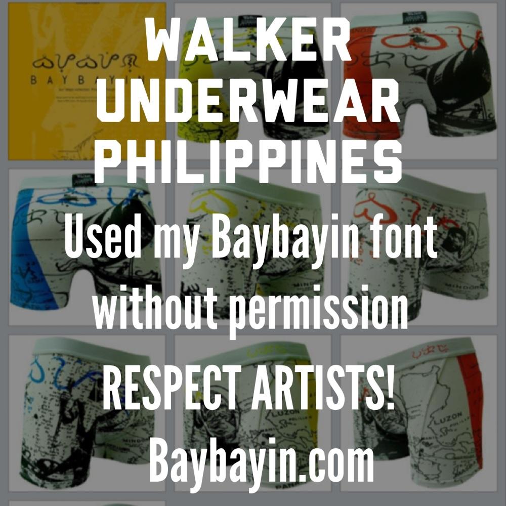 Walker Underwear Philippines rips off artists (1/3)
